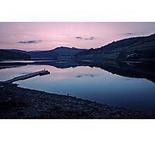 Ladybower Reservoir at Dusk Photographic Print