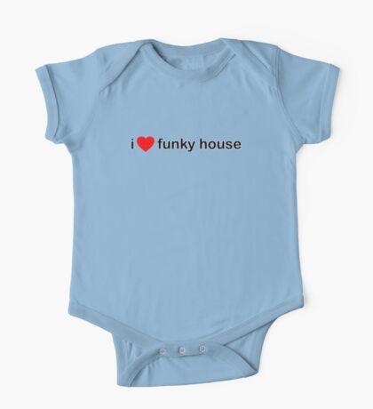 I Love Funky House One Piece - Short Sleeve
