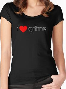 I Love Grime Women's Fitted Scoop T-Shirt