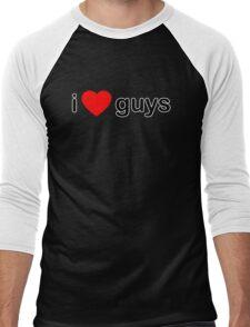 I Love Guys Men's Baseball ¾ T-Shirt