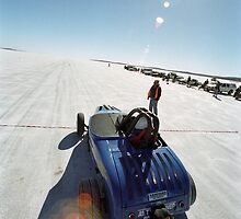 Ford Hot Rod on the salt 1 by Frank Kletschkus