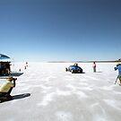 Ford Hot Rod on the salt 2 by Frank Kletschkus