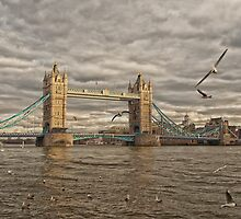Sunset at Tower Bridge by Drew Walker