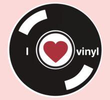 I Love Vinyl One Piece - Short Sleeve