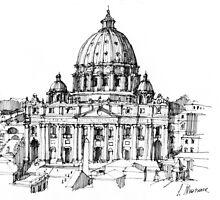 Basilica di S. Pietro a Roma by Luca Massone  disegni