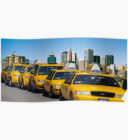 New York - Yellow cabs Poster