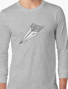 Old school paper plane Long Sleeve T-Shirt