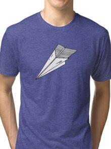 Old school paper plane Tri-blend T-Shirt
