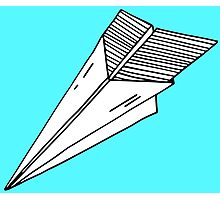 Old school paper plane Photographic Print