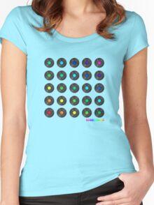 Rainbow Records - DJ Vinyl Women's Fitted Scoop T-Shirt