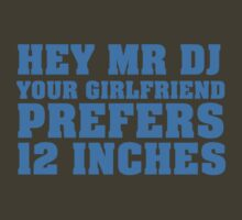 Hey Mr DJ Your Girlfriend Prefers 12 Inches by HOTDJGEAR