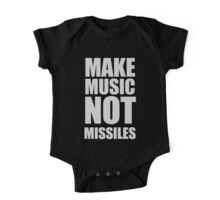 Make Music Not Missiles One Piece - Short Sleeve