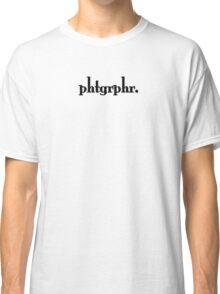 Photographers Represent in Minimum Way. Classic T-Shirt