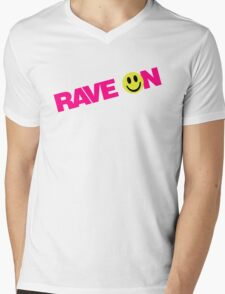 Rave On DJ Mens V-Neck T-Shirt