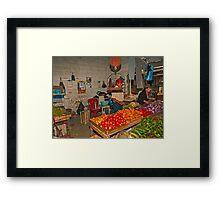 Vegetables at the Mercado - Playas, Ecuador Framed Print