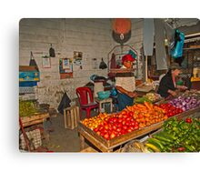 Vegetables at the Mercado - Playas, Ecuador Canvas Print