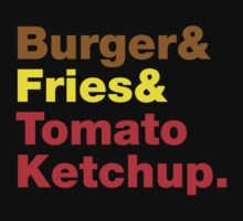 Burger & Fries & Tomato Ketchup. by tinybiscuits