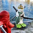 Ninja Fishing by bricksailboat