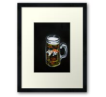 Golden Beer Framed Print