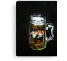 Golden Beer Canvas Print