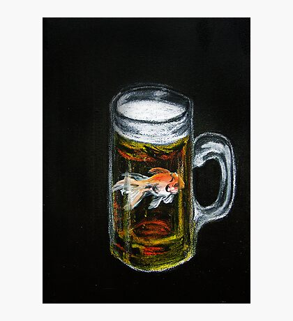 Golden Beer Photographic Print