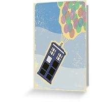 Up Goes the TARDIS Greeting Card
