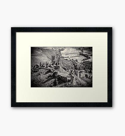 Corfe Castle Dorset England Framed Print