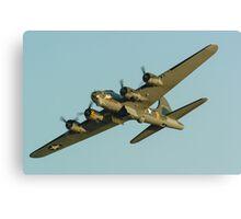 Boeing B17 Bomber Sally B Canvas Print