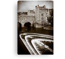 Pulteney Bridge and Weir Bath England Canvas Print