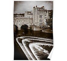 Pulteney Bridge and Weir Bath England Poster