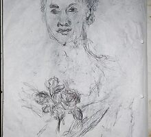 National Gallery/Old Master copy -(260413)- A4 white sketchbook/black biro pen by paulramnora