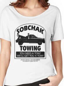 The Big Lebowski Inspired - Sobchak Towing - You Want a Toe? Women's Relaxed Fit T-Shirt