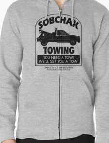 The Big Lebowski Inspired - Sobchak Towing - You Want a Toe? Zipped Hoodie