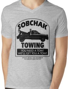 The Big Lebowski Inspired - Sobchak Towing - You Want a Toe? Mens V-Neck T-Shirt