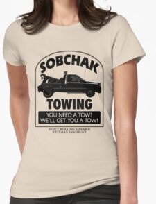 The Big Lebowski Inspired - Sobchak Towing - You Want a Toe? Womens Fitted T-Shirt