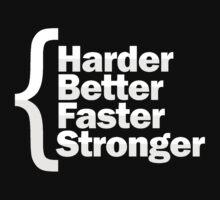 Harder Better Faster Stronger Kids Tee