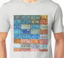 Car plates. Unisex T-Shirt