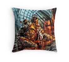 Mr Bubbles Please Get up Throw Pillow