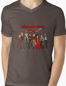 Misbehaving time Mens V-Neck T-Shirt