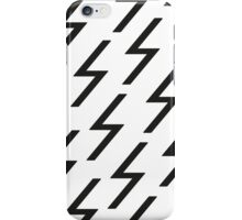 Black bolts iPhone Case/Skin