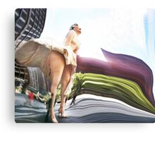 Marilyn Monroe skirt blows up in Chicago Canvas Print