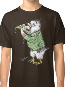 Grunge penguin taking an ice cool break. Classic T-Shirt