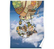 Bath tub Balloon Poster