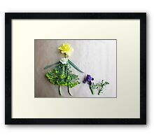 Daffodil with her scottie dog, Iris Framed Print