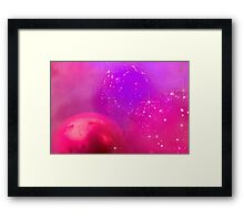 Holiday baubles in pink Framed Print