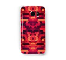 Abstract red geometric triangle texture pattern design (Digital Futrure - Hipster / Fashion) Samsung Galaxy Case/Skin