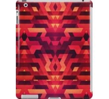 Abstract red geometric triangle texture pattern design (Digital Futrure - Hipster / Fashion) iPad Case/Skin