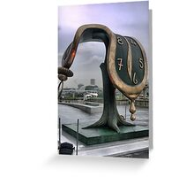 What's the time Mr Dali..? Greeting Card