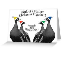 Mountain Area Chicken Chicks Greeting Card