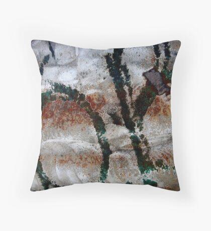 Paleolithic Alphabet Throw Pillow